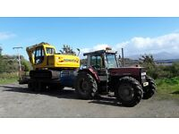 Low loader trailer for tractor in need of refurbishment