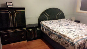 Bedroom set and Queen bed
