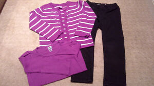GAP/Old navy jeggings and cardigan, 4t