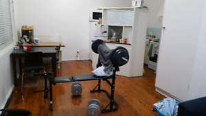 Bench press and weight for sale