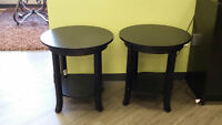 Black End Tables (2) PRICE REDUCED