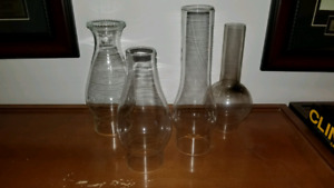 4 Hurricane Lamp Chimneys