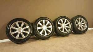 "Set of infiniti factory rims 20"" with tires in good condition"
