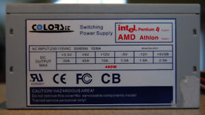 PC Power Supply 480 Watts for IDE Hard Disks