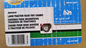 Winter tire chains lawn tractor