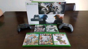 Xbox One S - 2 controllers - games