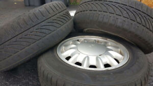 Set of Hankook tires with rims $150