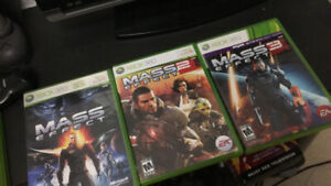 Mass Effect Trilogy 1, 2, and 3 (Xbox 360)