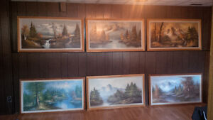 Series Of Mountains Paintings Strathcona County Edmonton Area image 1