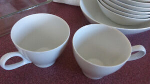 Mikasa Sophisticate cups, oval serving bowl, bowls and nappies