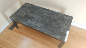 Stone-look coffee table
