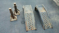 Automobile ramps and frame stands