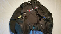 Cold water scuba / diving gear BCD regs & suit Seaquest US Diver