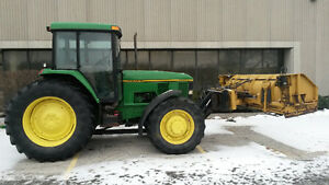John Deere 7400 Tractor with 10-16 HLA Snow Blade