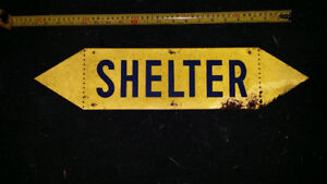 WW2 Lead Shelter Sign