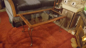 "19 1/2""Long x 33""Wide x 18""High Tinted   Glass Coffee Table"