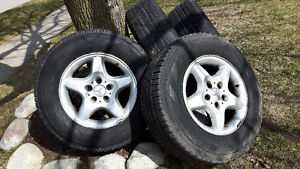 Mercedes rims with tires