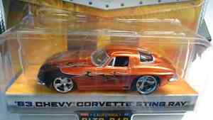 JADA TOYS DUB CITY BIGTIME MUSCLE 63 CHEVY CORVETTE STING RAY DI