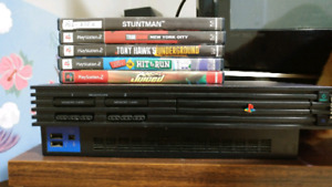 PS2 Fat. With expansion bay at the back with memory card. 8MB