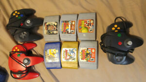 Assorted N64 Games & Controllers