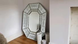 Vintage glass mirror
