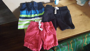 3 pairs of 12 month shorts
