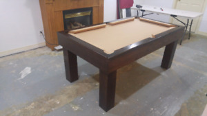 Pool table / dining top. 2 in one. Custom.built