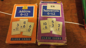 Math Flashcards - Fractions, Division, Subtraction, Addition