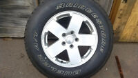 P255/70R18 GY WRANGLER SR-A TIRE ON A JEEP WHEEL (1 ONLY)