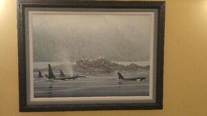 Robert Bateman  - Orca Procession  - Canvas - Limited Edition AP