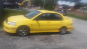 03 Lancer 5 speed rally edition. 650 obo