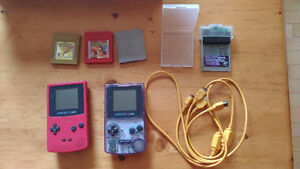 2 Gameboy Colors, Link Cable, Pokemon Gold, Silver, Red