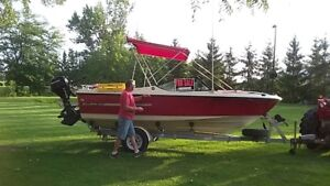 18 Foot Fibreglass Silverline equipped for fishing