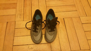 For sale:  2 pairs of Kids soccer shoes size 1Y
