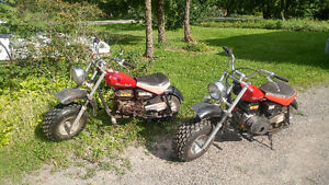 Two Baja Mini Bikes