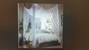 King Size White Bed Canopy London Ontario image 1