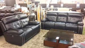 """""""LUX"""" Leather Reclining Sofa & Love Seat - """"Crazy Price"""""""