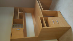 Desk is good used condition with a filing drawer