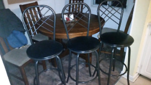 4 Solid Bar Stools, Delivery available