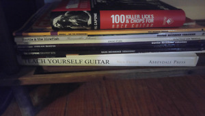 Guitar and bass tab books