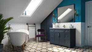New Blue & Grey color Vanity+Counter top 4 ur Modern Bathroom!