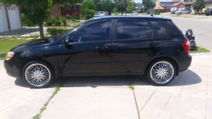 Reduced Price ** $5500   Black Car Kia Spectra  Manual