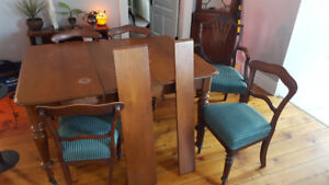 Antique kitchen table with 6 chairs
