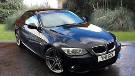 BMW 320 2.0 auto 2010.5MY i M Sport CONVERTIBLE BLACK