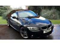 BMW 320 2.0 auto 2010.5MY i M Sport CONVERTIBLE BLACK