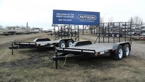 NEW 2016 12' & 14' Rainbow Tandem Axle Utility Trailers