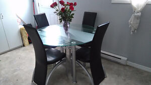 Leather Dining Set 220 OBO