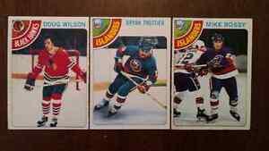Lot de 6 cartes de hockey ! Mike bossy recrue !