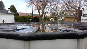 Toile hivernale de piscine 24 pi