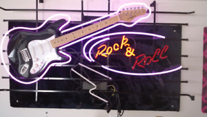 Neon Rick n Roll sign